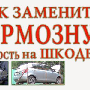 Как заменить тормозную жидкость на автомобиле Шкода