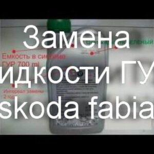 Как поменять жидкость ЭГУР на примере skoda fabia