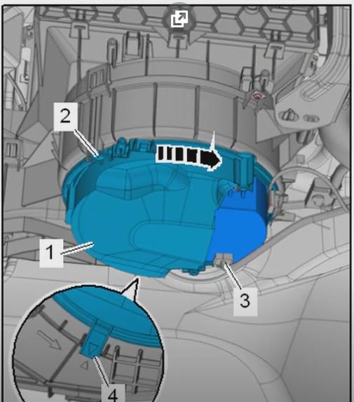 Демонтаж вентилятора octavia A7