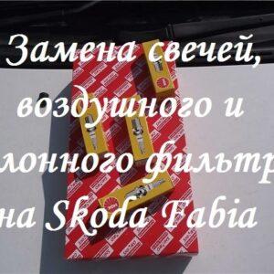 Как заменить фильтр и свечи на Skoda Fabia
