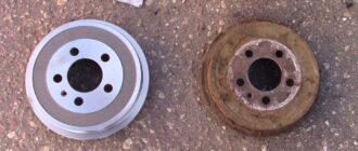 Замена задних тормозных барабанов Skoda Fabia