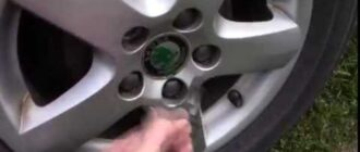 Демонтаж колесных секреток skoda fabia